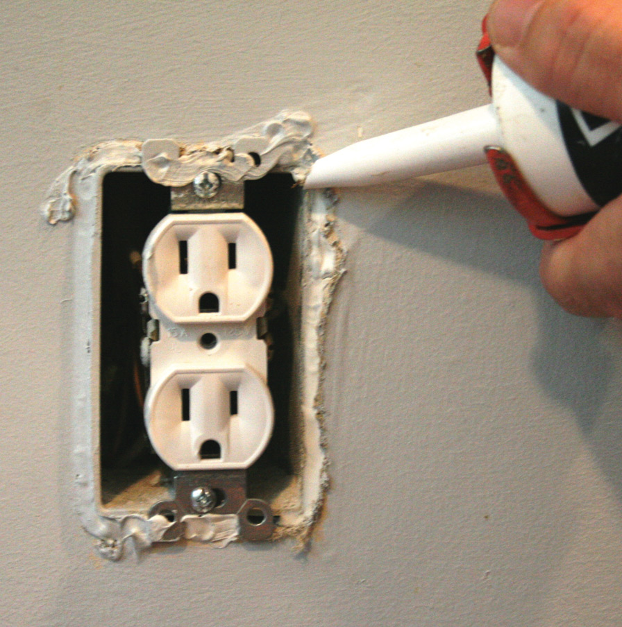 Insulating electrical outlets can help minimize heat loss in your home this winter.