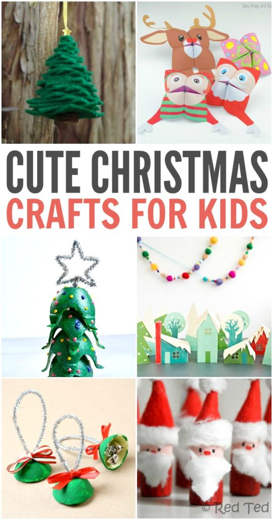 40 cute christmas crafts for kids saving our money for Cute christmas crafts for toddlers