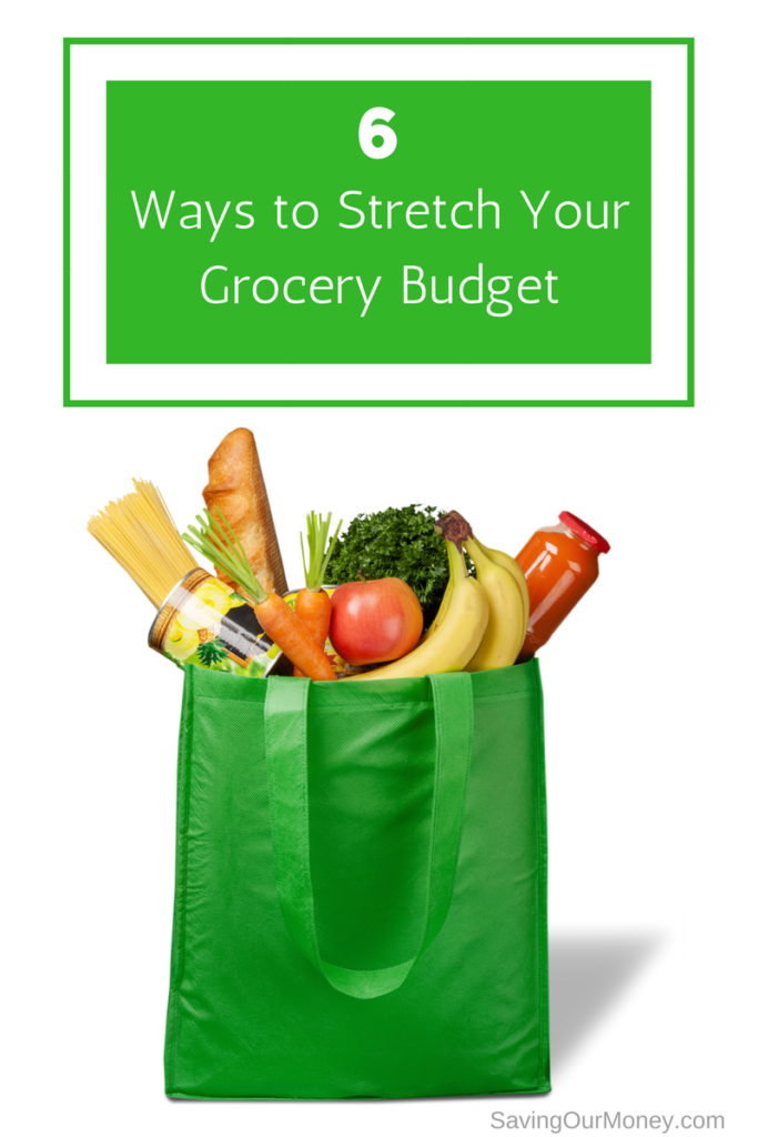 6 ways to stretch your grocery budget. Money saving tips.