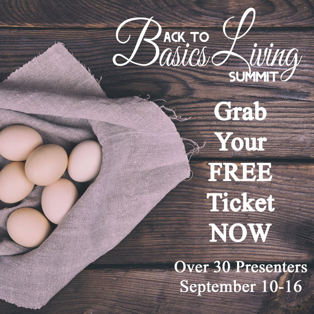Learn about how to save money and be more self-sufficient in online seminars during the Free Back to Basics Living Summit September 10-16, 2017. Register today: http://savingourmoney.com/b2bsummit
