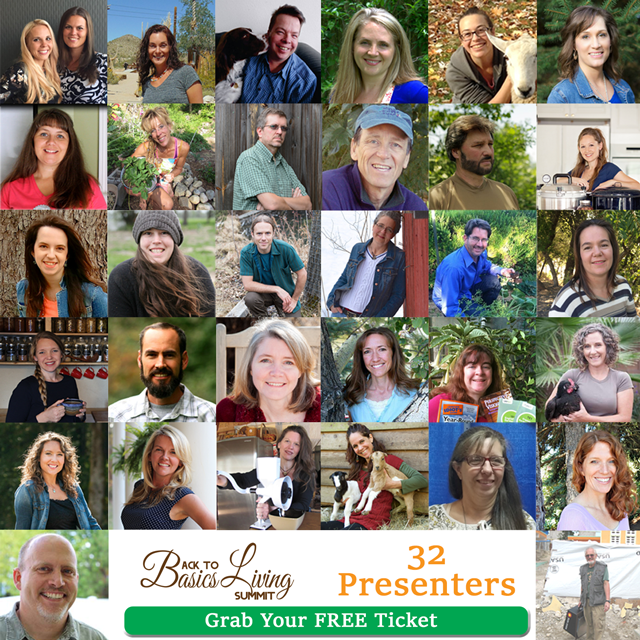 Free Back to Basics Living Summit - free presentations on homesteading, urban gardening, emergency preparedness, self sufficiency and much more