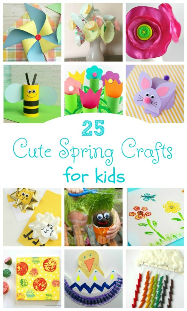 25 Cute Spring Crafts for Kids